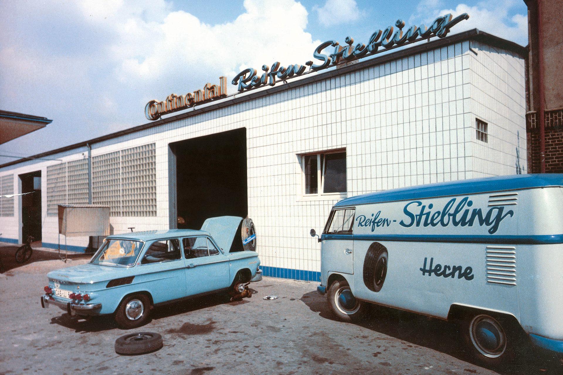 Autowerkstatt, um 1965 | Reifen Stiebling GmbH